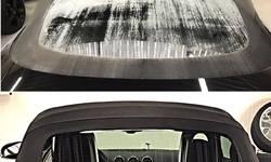 """#Brandschade; Volledige reiniging/detailing van """"cabrio-stoffen-dak"""" +"""